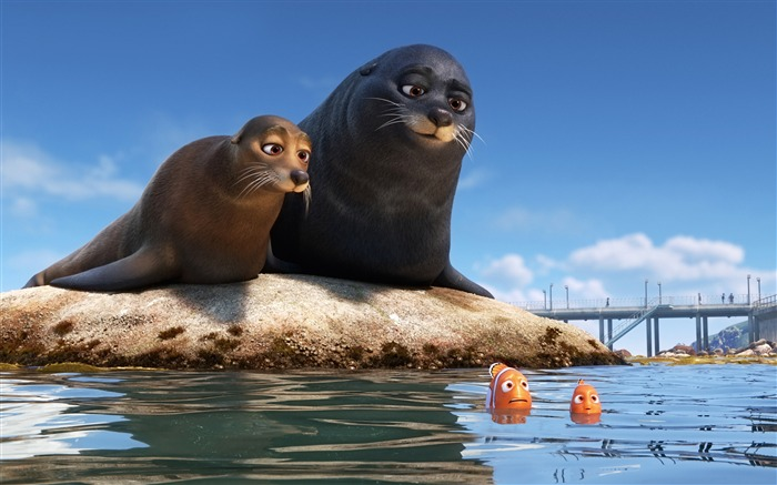 Finding Dory Sea Lions 2016-Movies Posters HD Wallpaper Views:2155