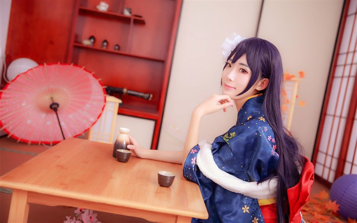 Japanese kimono beauty girls photo poster wallpaper Views:17717