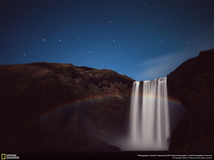 Moonbow waterfall night-2016 National Geographic Wallpaper Views:1595