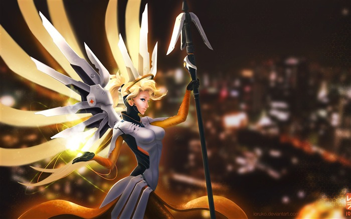 Overwatch mercy anime-High Quality HD Wallpaper Views:1711