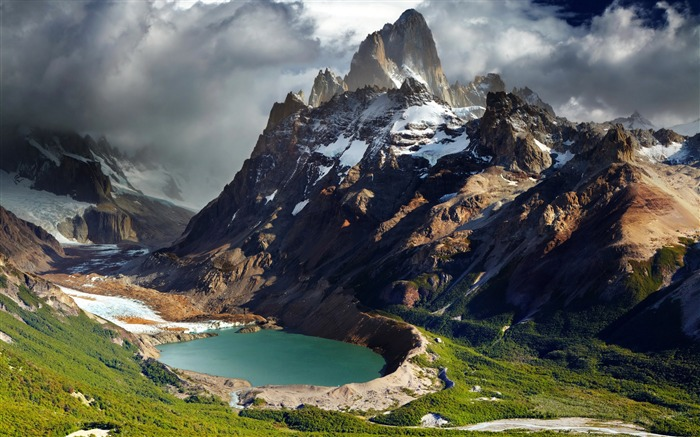 Patagonia Argentina mountains lake-nature HD photo wallpaper Views:2832