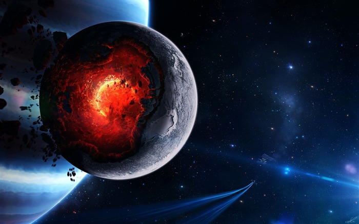 Planet core meltdown-Universe Digital HD Wallpaper Views:1037