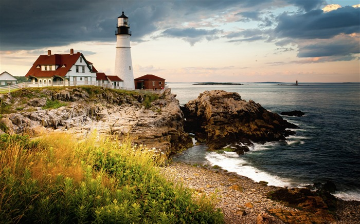 Portland Head Light Cape Elizabeth Maine-nature HD photo wallpaper Views:1970