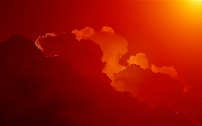 Red clouds sunset ray-2016 High Quality HD Wallpaper Views:1761