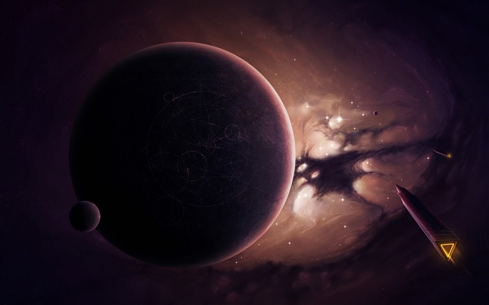 Space planet dark-Universe Digital HD Wallpaper Views:711