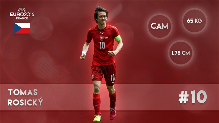 Tom Rosicky-UEFA Euro 2016 Player Wallpaper Views:1673