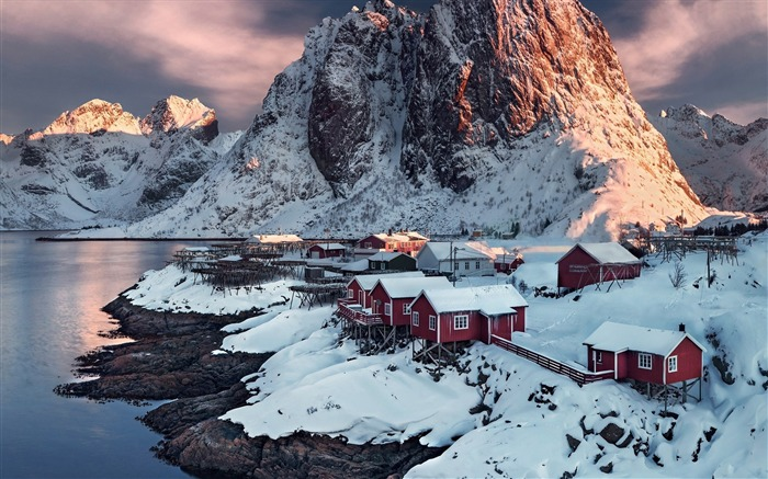 Village hamnoy norway-High Quality HD Wallpaper Views:1117