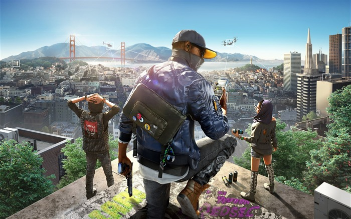 Watch Dogs 2-Game Posters HD Wallpaper Views:2016