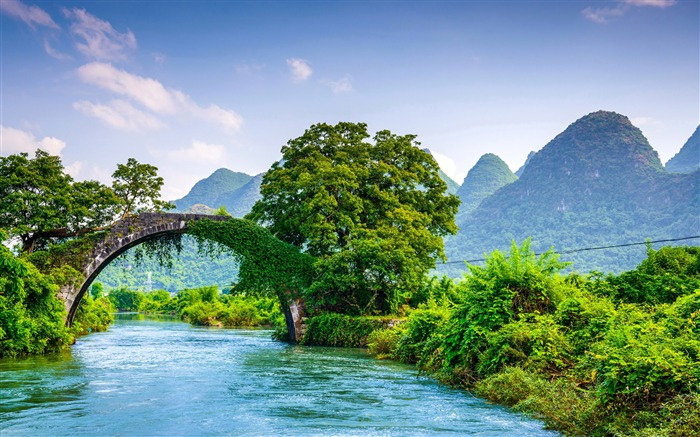 Yulong bridge china-nature HD photo wallpaper Views:1523