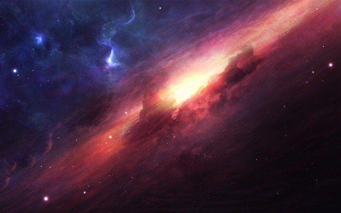 beautiful ice fire space-Universe Digital HD Wallpaper Views:1548
