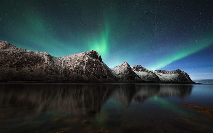 Aurora borealis lights iceland-Landscape Theme Wallpaper Views:1278