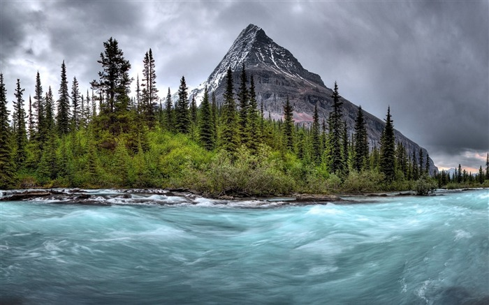 Mountain river stream gloomy-Scenery High Quality Wallpaper Views:1579