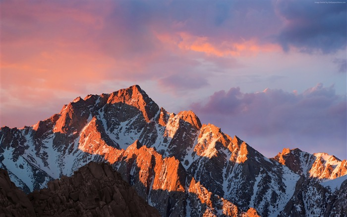 Mountains macos sierra sky-Landscape Theme Wallpaper Views:2381