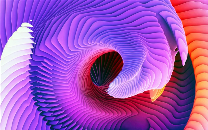 Purple abstract spiral-Vector design theme wallpaper Views:1547