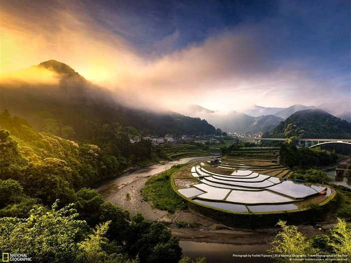 Paisaje de arrozales de Japón-National Geographic Wallpaper Vistas:2949