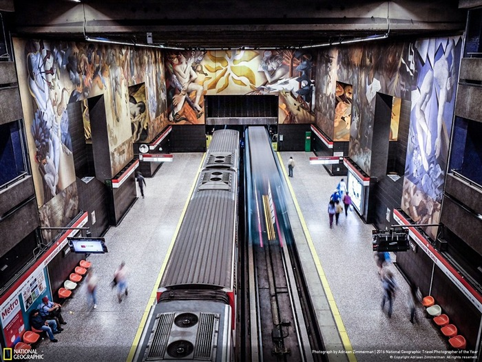 Murales de Santiago Chile Metro-National Geographic Wallpaper Vistas:1878