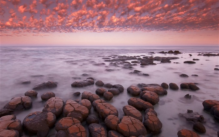 Sea rocks sky sunset-Landscape Theme Wallpaper Views:1180