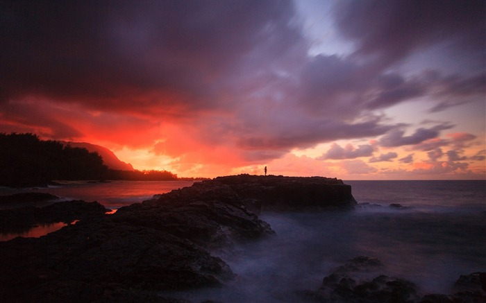 Sunset ocean sky mist-Scenery High Quality Wallpaper Views:1458