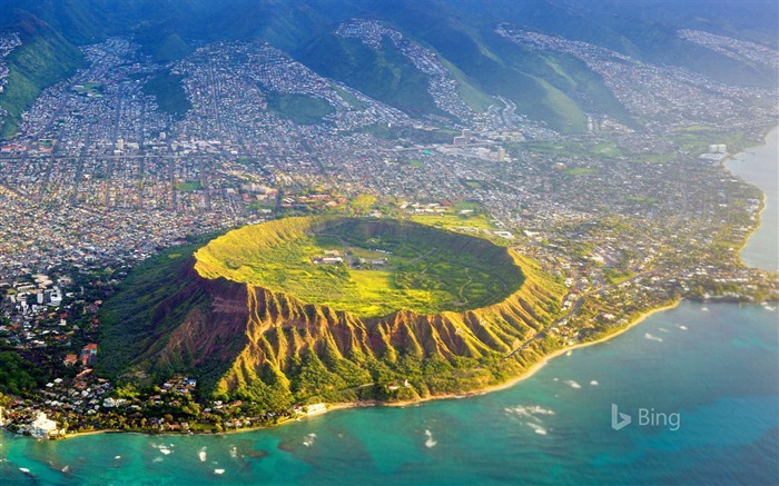 Aerial view Oahu Hawaii-2016 Bing Desktop Wallpaper Views:1667