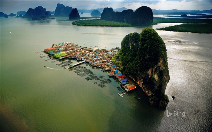Village of Ko Panyi Phang Nga Bay Thailand-2016 Bing Desktop Wallpaper Views:1902