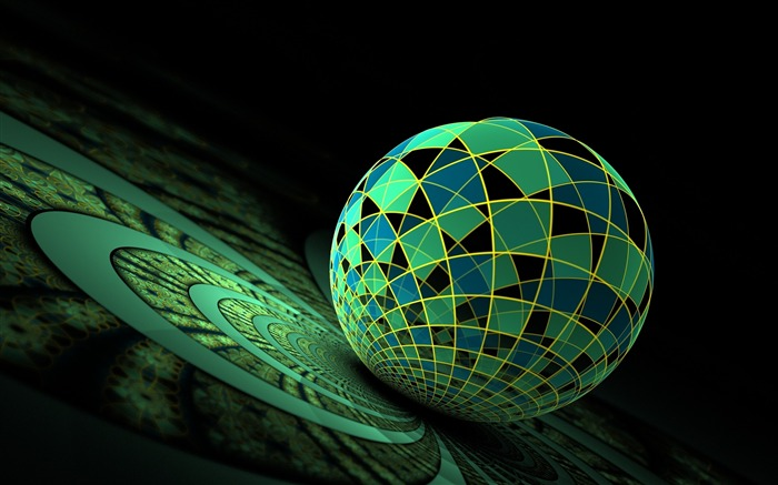 Ball surface green-3D Artwork Vector Wallpaper Views:1775