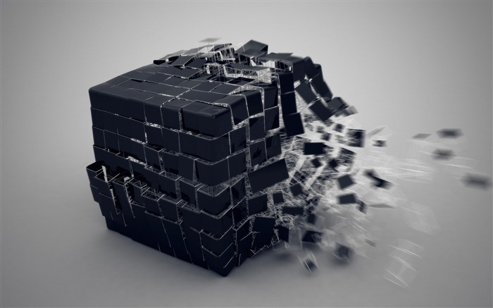 Cube burst forming-3D Artwork Vector Wallpaper Views:2247