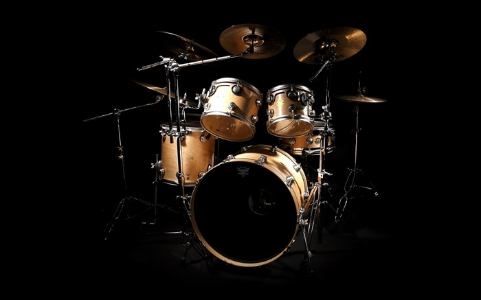 Drums black background-2016 Music HD Wallpaper Views:1267