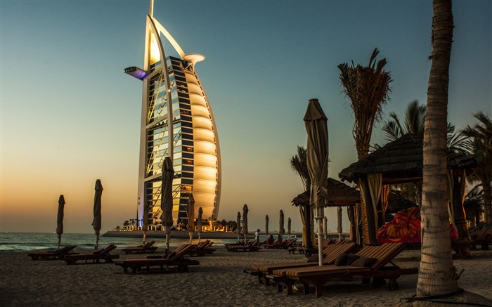 Dubai burj al arab palm trees-2016 High Quality Wallpaper Views:1239