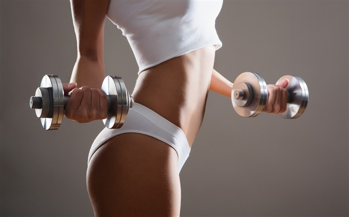 Girl exercise dumbbells workout-Fitness photo wallpaper Views:1586