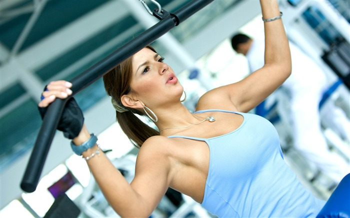 Girl gym exercise-Fitness photo wallpaper Views:1617