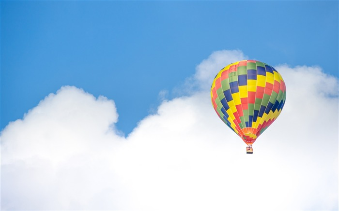 Hot air balloon blue sky clouds-2016 High Quality Wallpaper Views:1324