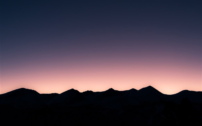 Mountains sunset silhouette-2016 High Quality Wallpaper Views:1459