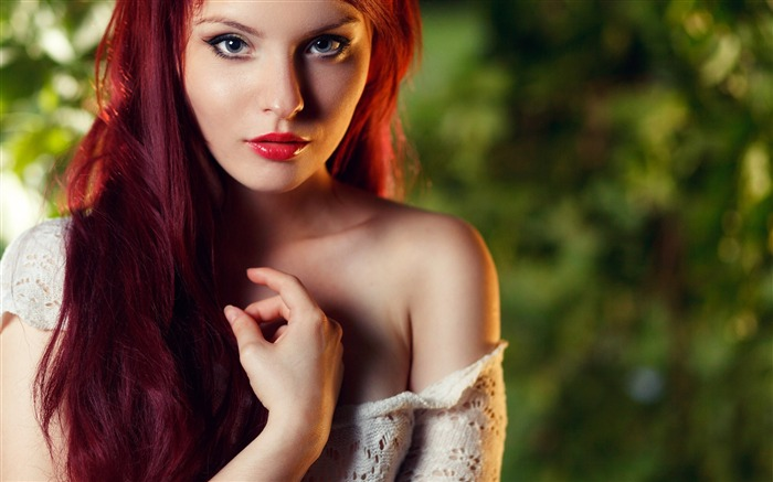 Redhead girl face makeup-Beauty Photo HD Wallpaper Views:796