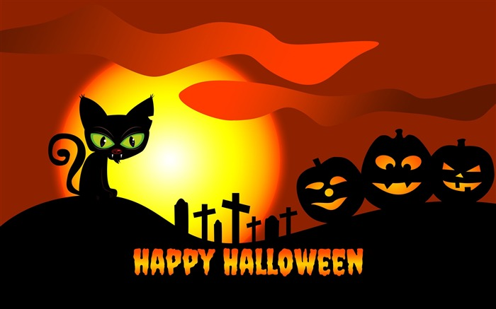 2016 Happy Halloween Holiday HD Theme Wallpaper Views:4323