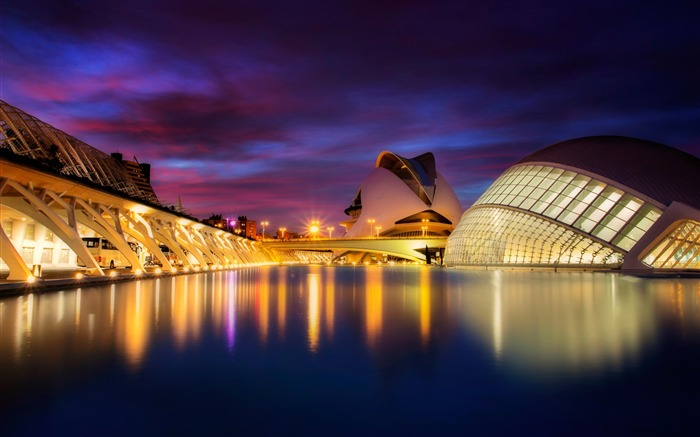 City of arts and sciences valencia spain-2016 High Quality HD Wallpaper Views:1936