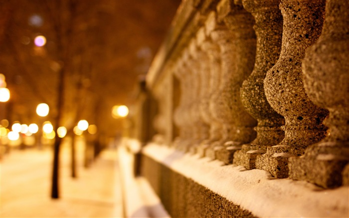 Nature snowy winter time-Bokeh Photography Wallpaper Views:1178