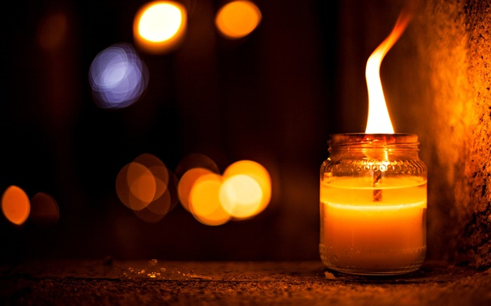 Night candle light colors-Bokeh Photography Wallpaper Views:1775