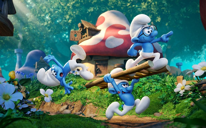 Smurfs The Lost Village 2017 Movie HD Wallpaper 01 Views:1799