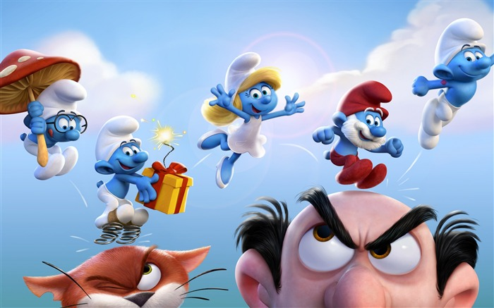 Smurfs The Lost Village 2017 Movie Poster HD Wallpaper Views:2656