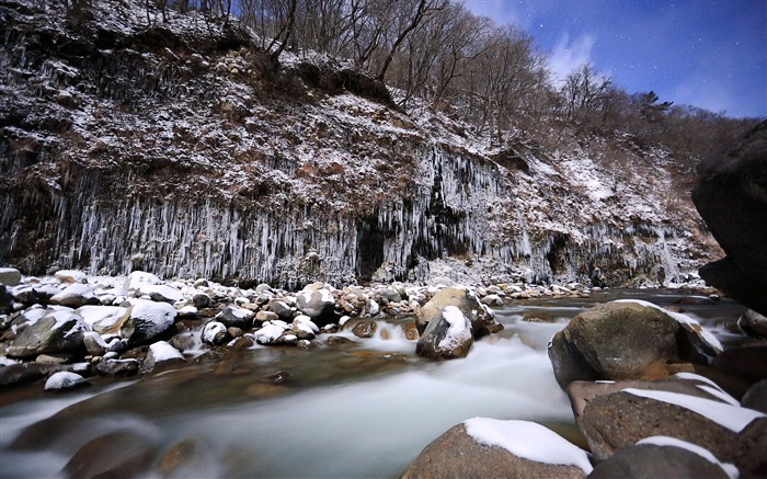 kazuo nakadai river rocks winter-2016 Windows 10 Desktop Wallpaper Views:1893