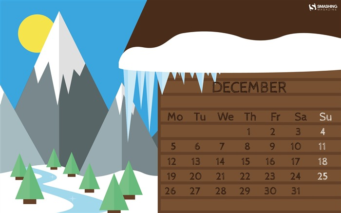 Baby Its Cold Outside-December 2016 Calendar Wallpaper Views:2345