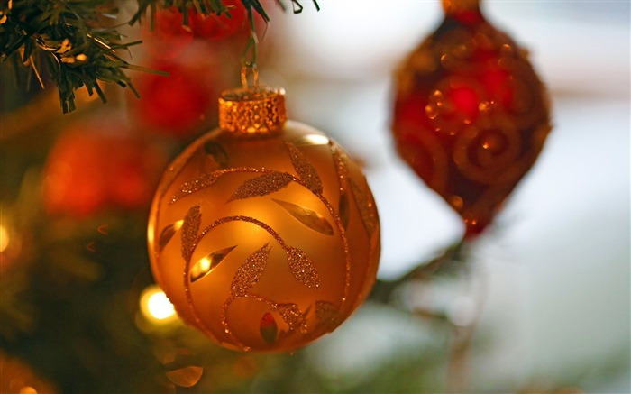 Christmas tree baubles-Merry Christmas 2017 HD Wallpaper Views:3705 Date:11/7/2016 4:38:47 AM