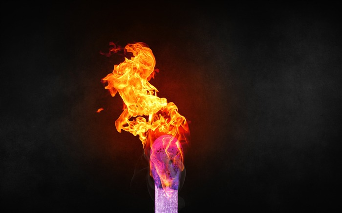 Colorful burning match-2016 High Quality Wallpaper Views:1586