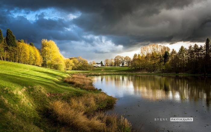 Madeley heath fishpond-England travel scenery wallpaper Views:1938
