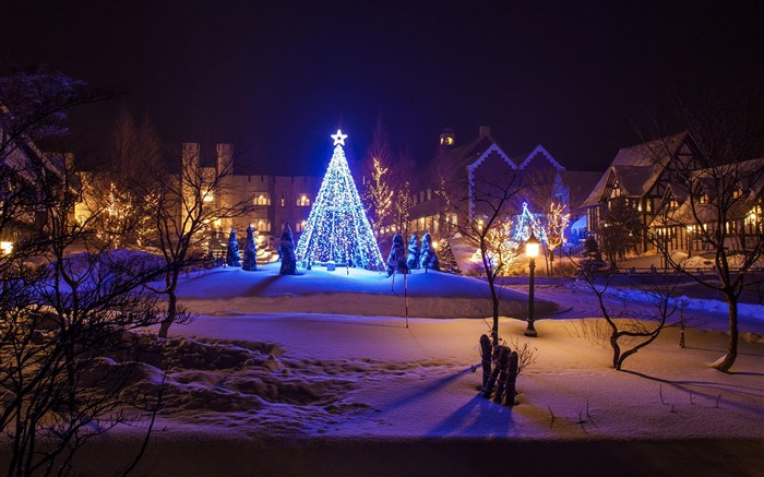 Outdoor city christmas decorations-Merry Christmas 2017 HD Wallpaper Views:3490 Date:11/7/2016 4:42:31 AM