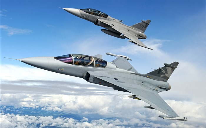 Saab jas 39 gripen fighters-2016 High Quality Wallpaper Views:1908