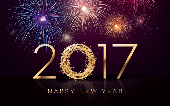 2017 Happy New Year HD Festivals Fonds d'écran Vues:4467