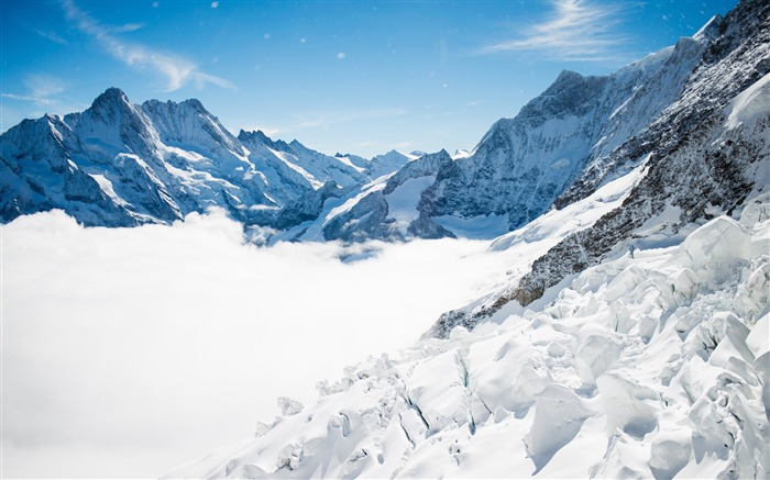 Bernese alps winter mountains-Nature High Quality HD Wallpaper Views:2100