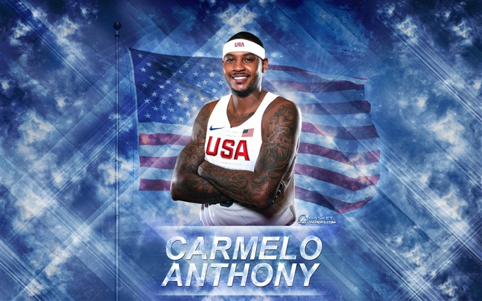 Carmelo Anthony-2016 Basketball Star Poster Wallpaper Views:2328