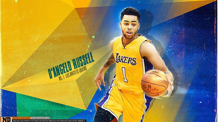 D Angelo Russell Lakers-2016 Basketball Star Poster Wallpaper Views:1630